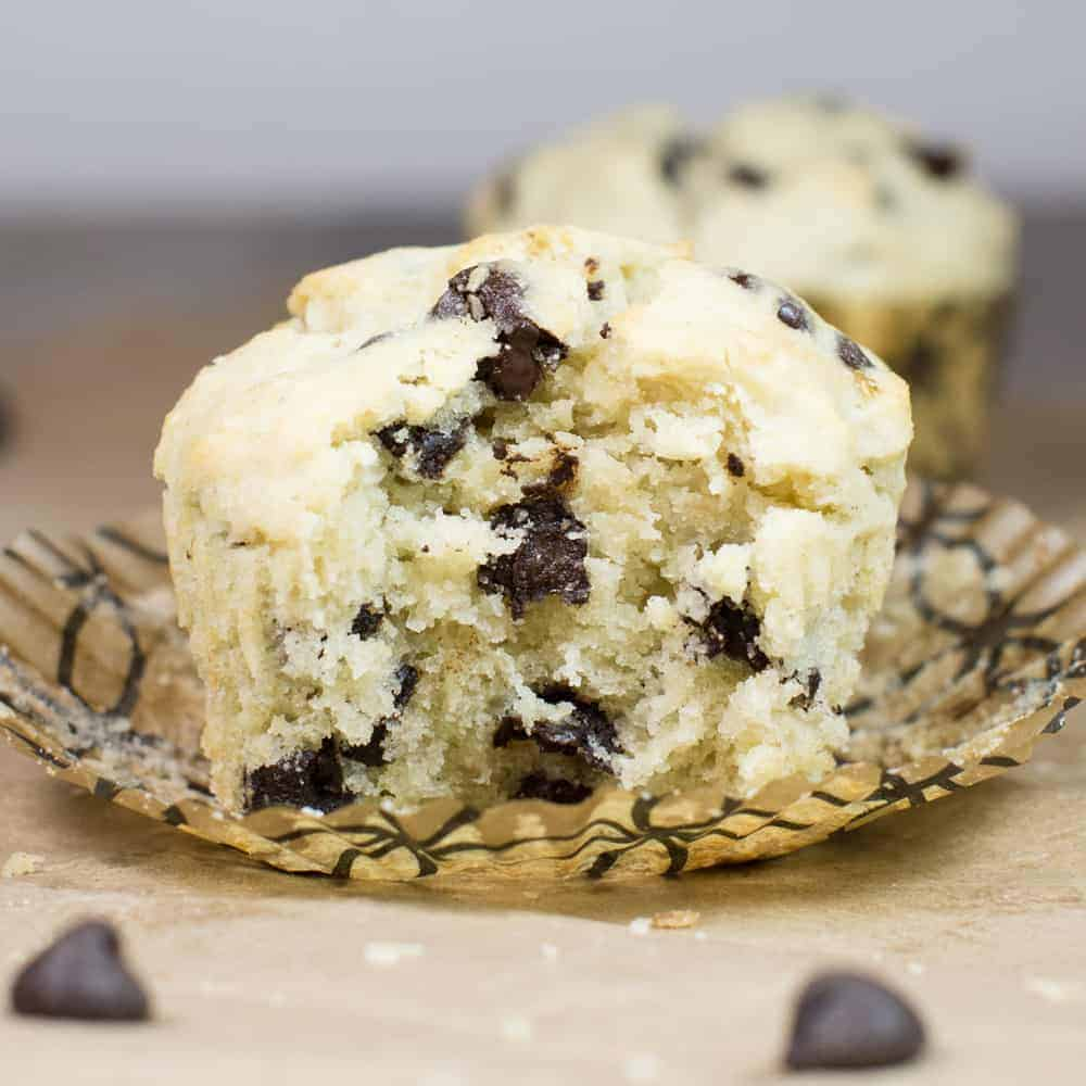 Gluten-Free Chocolate Chip Muffins [Low FODMAP]