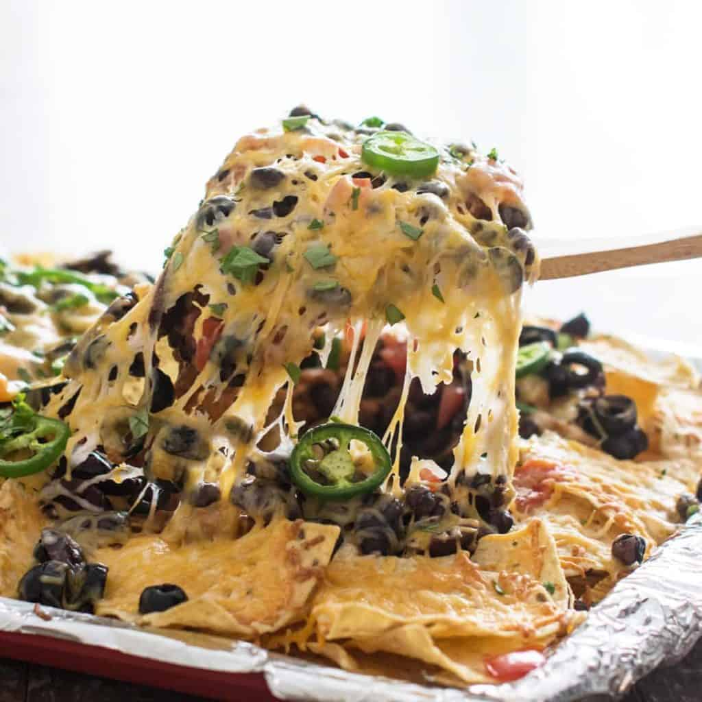 Two Bean Vegetarian Nachos