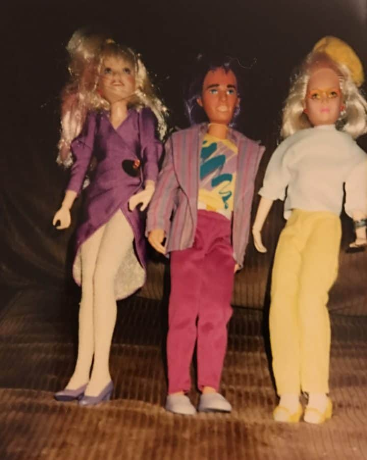 Jem, Rio and Jerrica from my Jem doll collection from the 80s