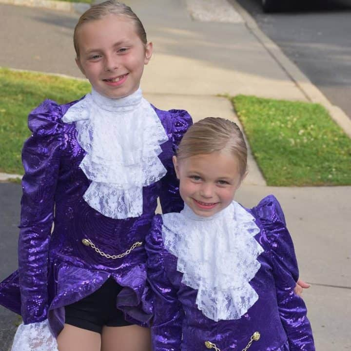our girls in their Prince inspired dance costumes