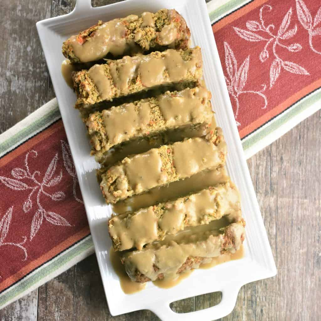 Holiday Chickpea Veggie Loaf