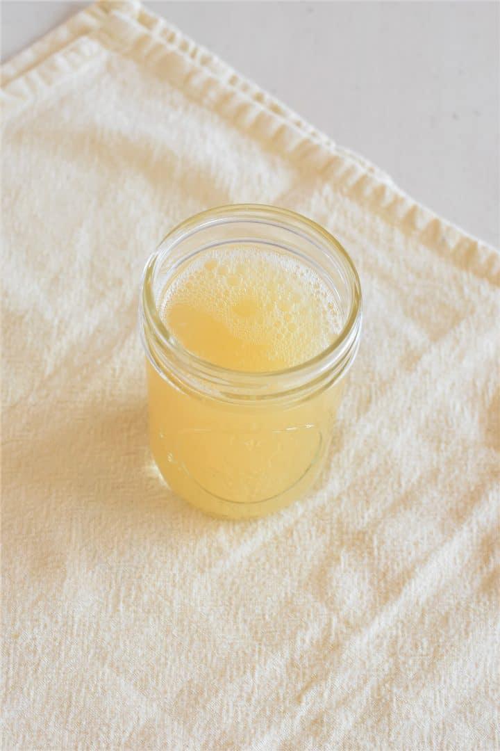 Aquafaba in a mason jar