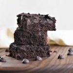 Stacked Chickpea Flour Brownies