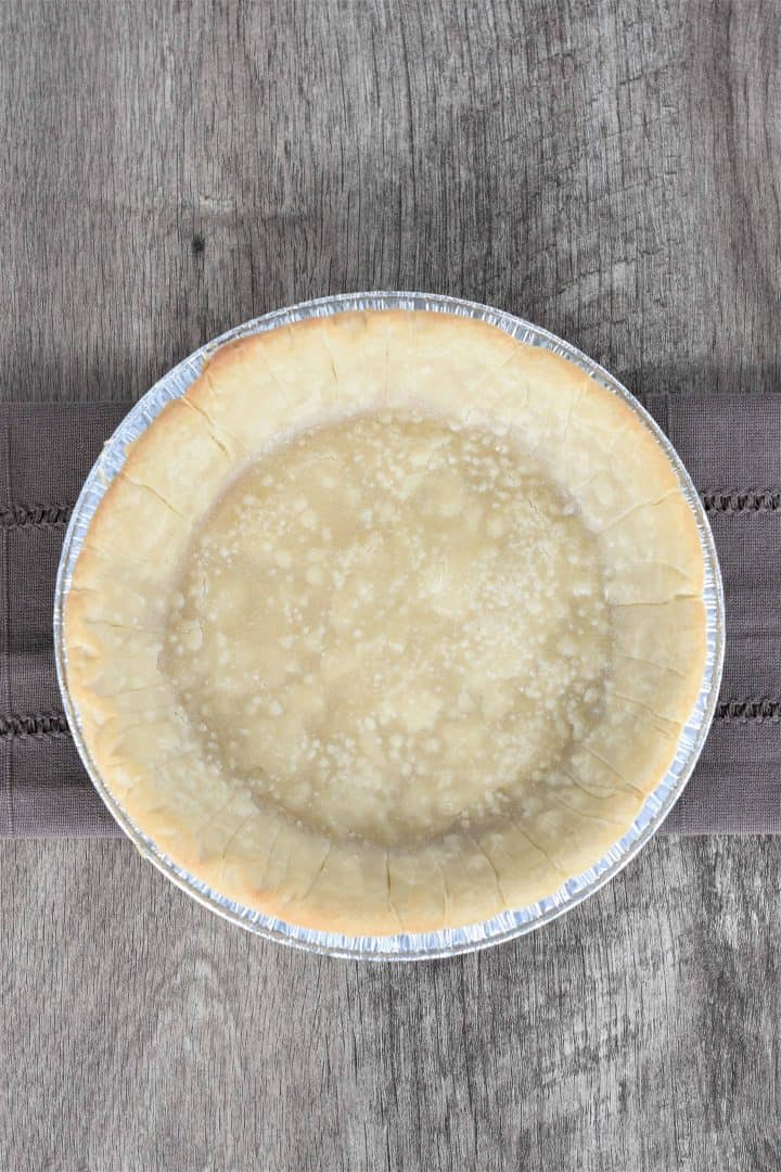 Baked gluten free pie shell