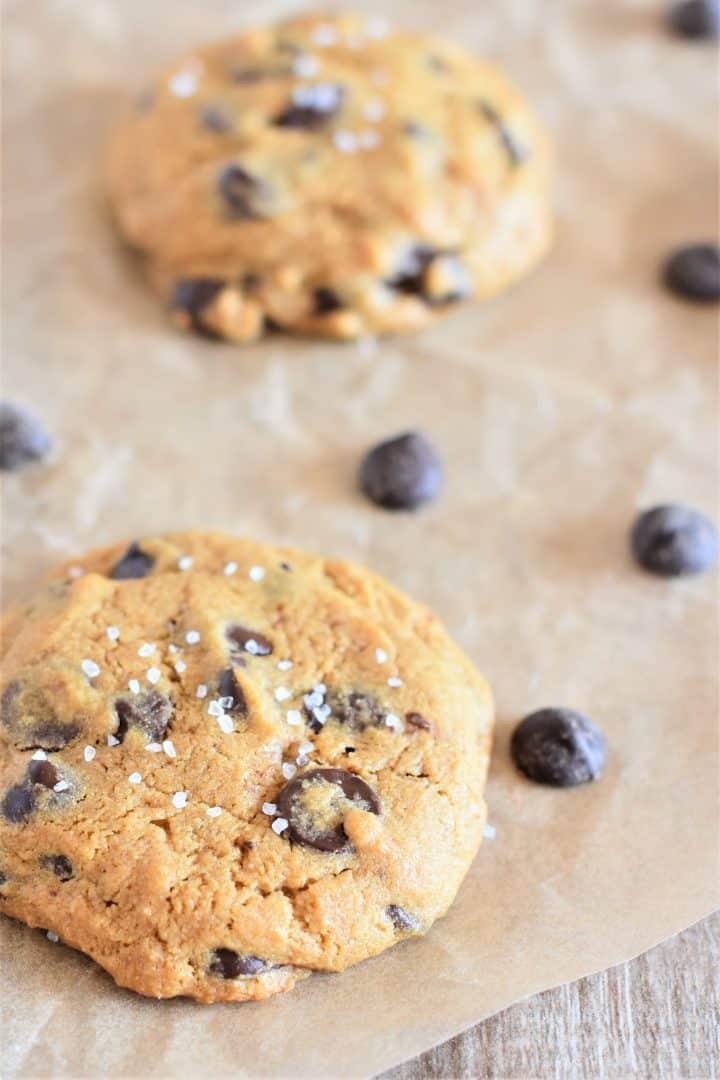 Vegan Chickpea Flour Chocolate Chip Cookies
