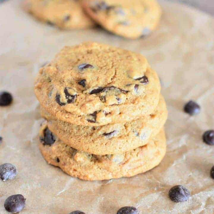 Vegan Chickpea Flour Chocolate Chip Cookies