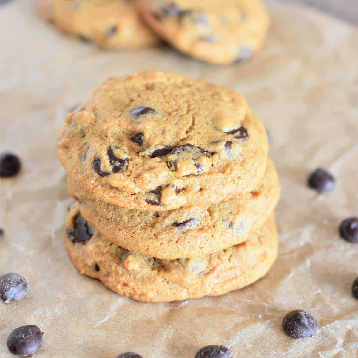 Vegan Gluten Free Chickpea Flour Chocolate Chip Cookies