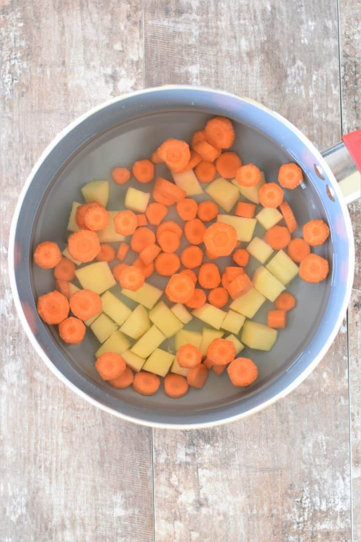 Potatoes and Carrots in water