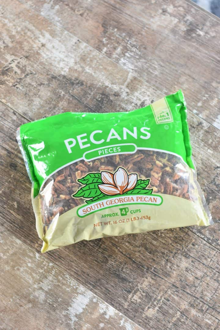 example of pecan pieces in a bag for size