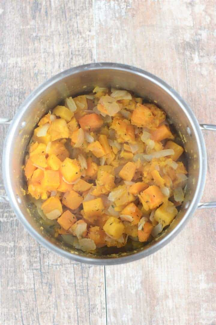 butternut squash and onion cooked down