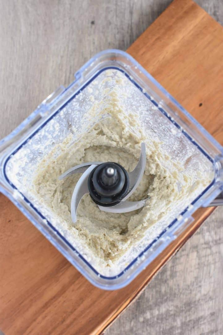 sunflower seed ricotta ingredients blended in blender