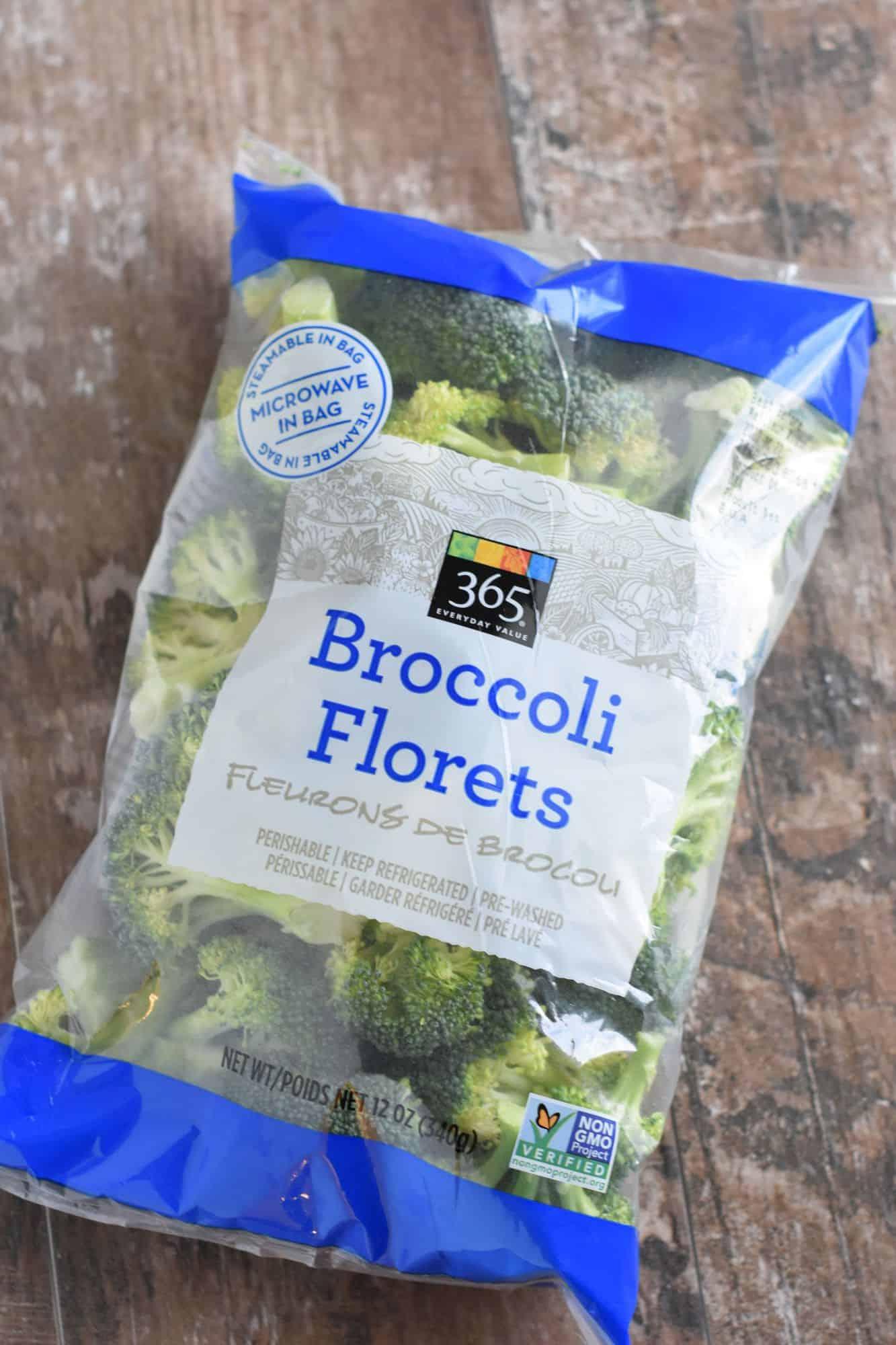 bag of broccoli florets
