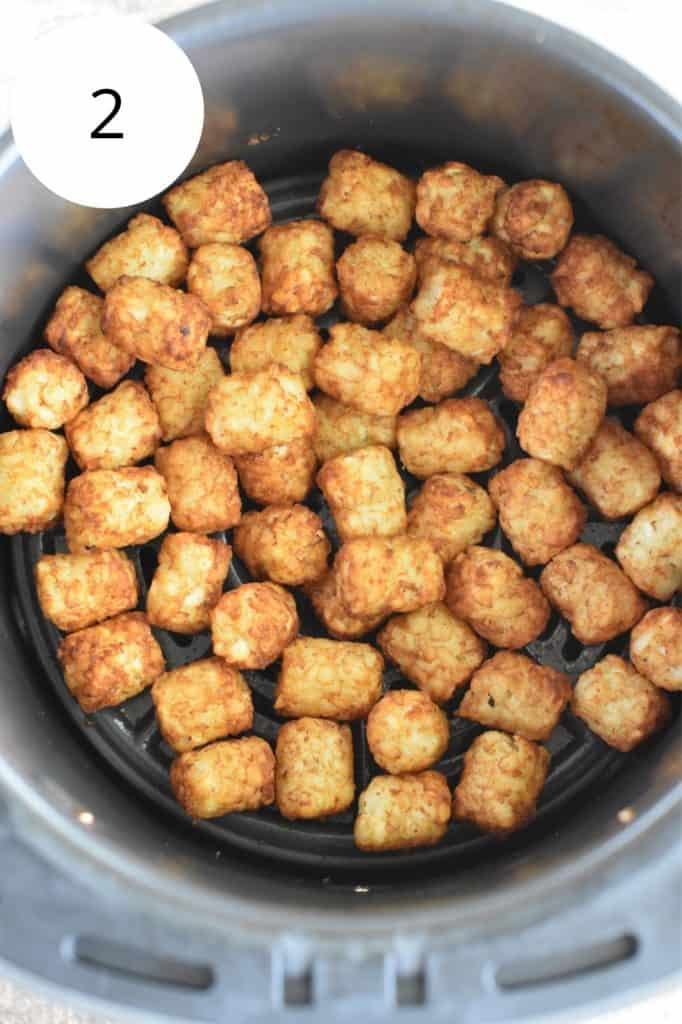 tater tots in air fryer after cooking