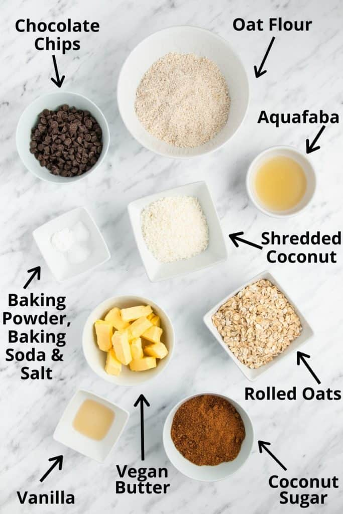 photo of recipe ingredients with labels