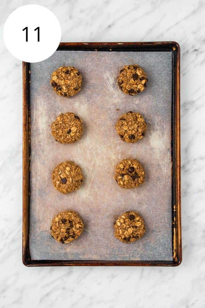 cookies on baking sheet before baking