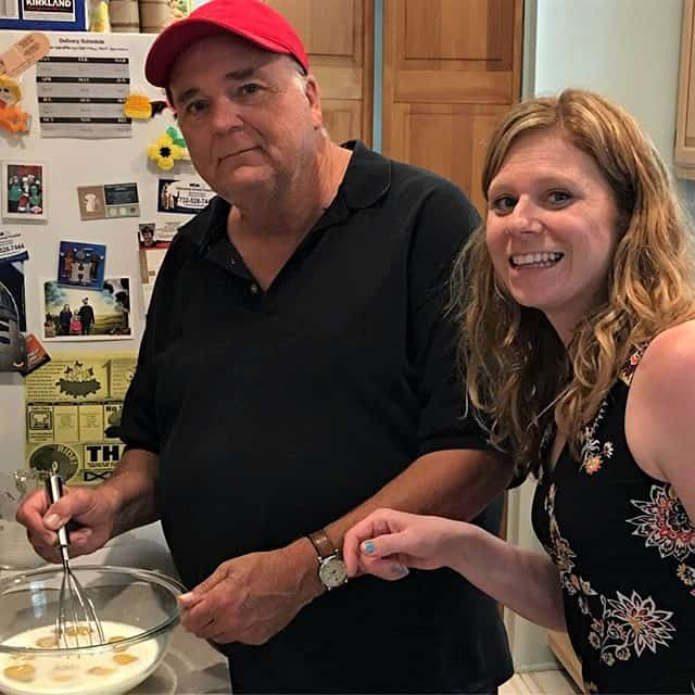 me and my dad making manicotti together