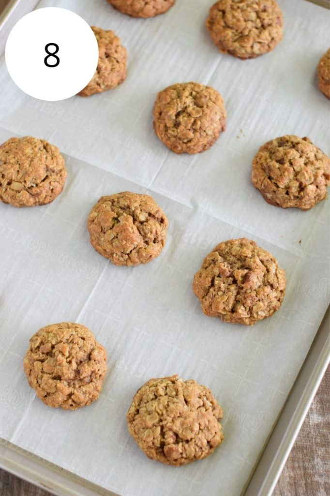 cookies on baking sheet after baking