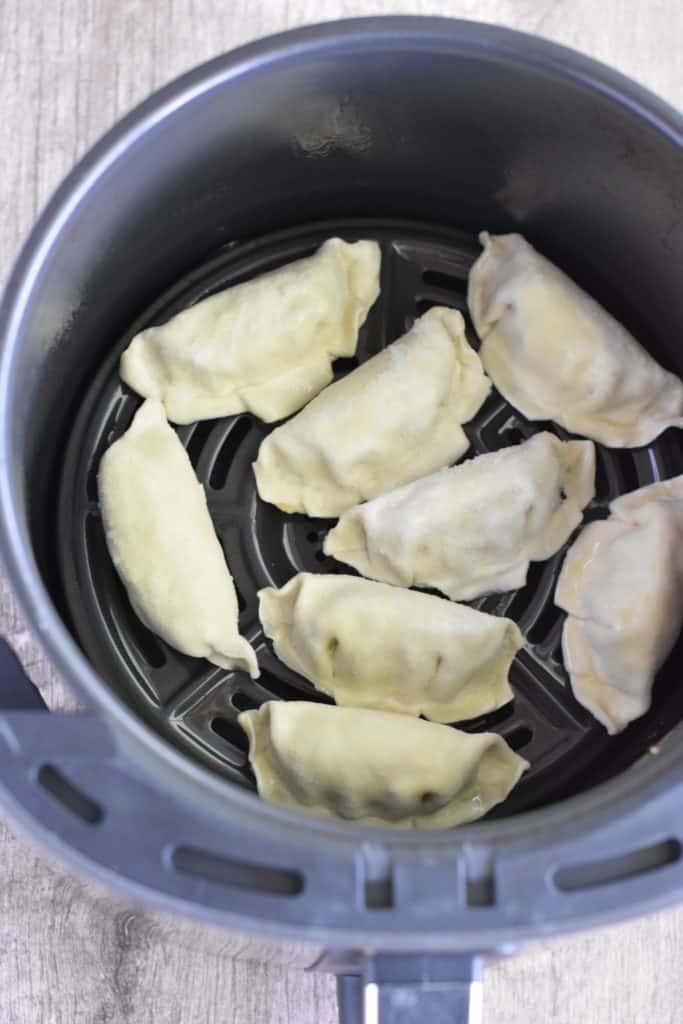 frozen potstickers in air fryer before cooking