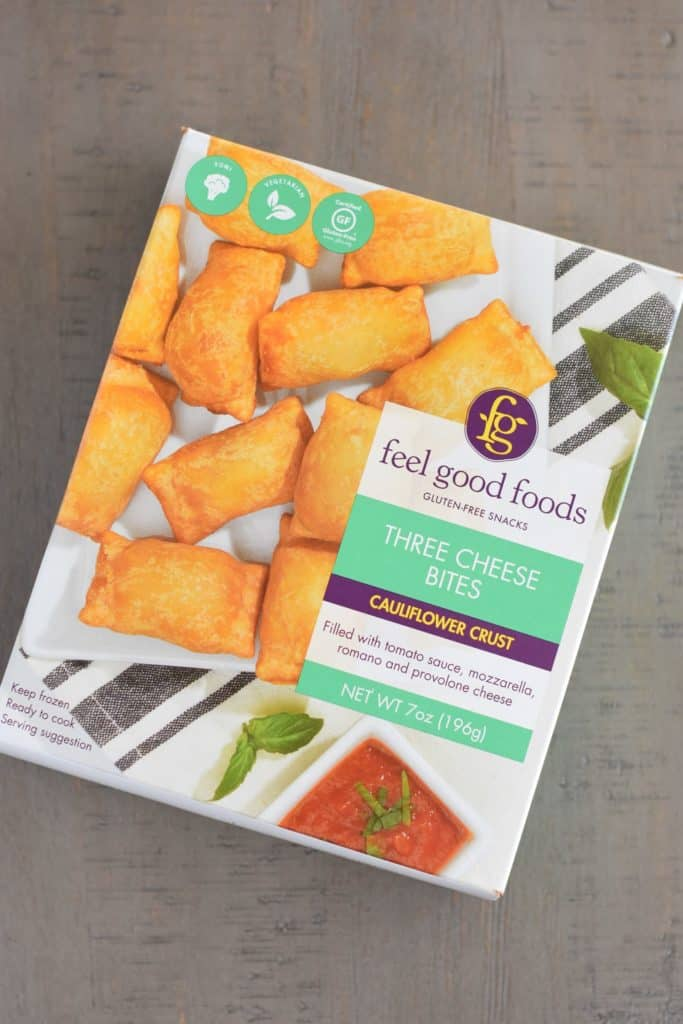 box of gluten-free pizza rolls by feel good foods
